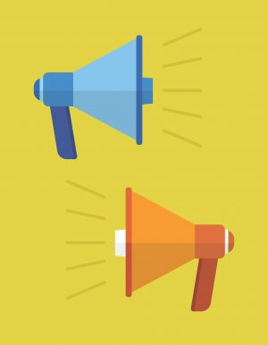 megaphone, speaker, speak